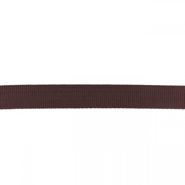 Gurtband-25 mm-Polypropylen-Choco