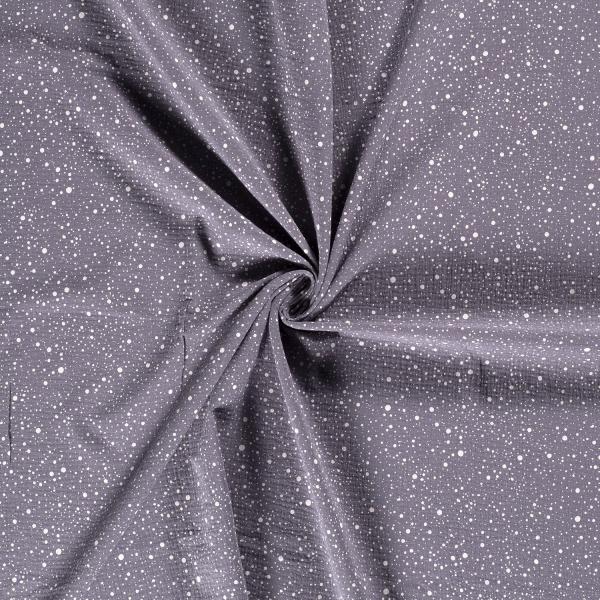 Musselin-Bärbel-Punkte-Grau