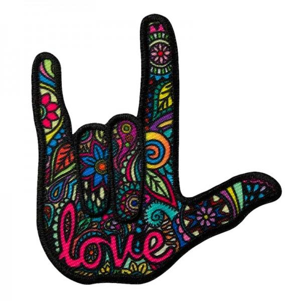 Aufbügler & Applikation-Hippie Hand