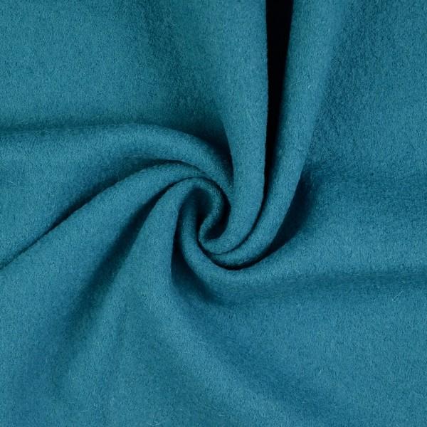 Walkloden-Laura-Walkstoff-100 % Wolle-Türkisblau