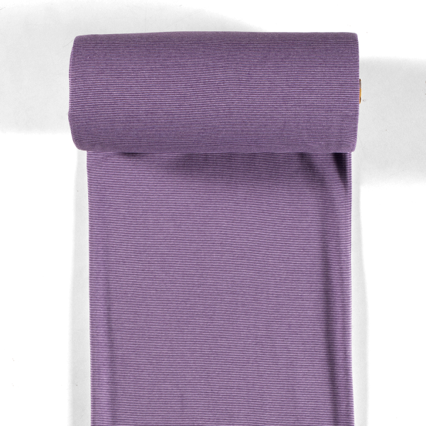 Bündchen-Steffi-35er Schlauch-Streifen-Violett