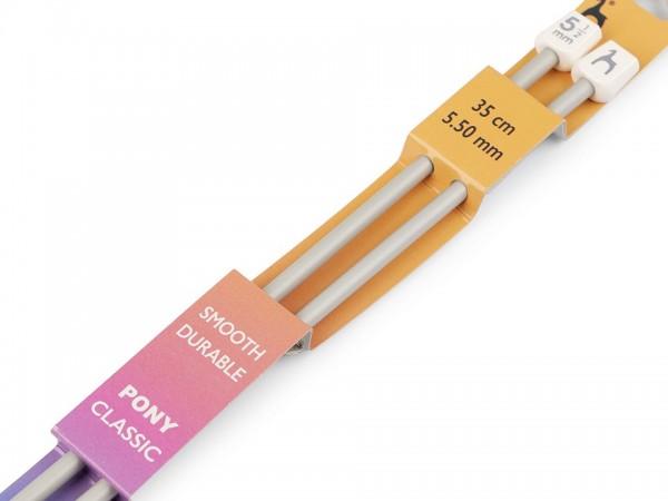Stricknadeln-2 Stück-35 cm Länge-5,5 mm Durchmesser
