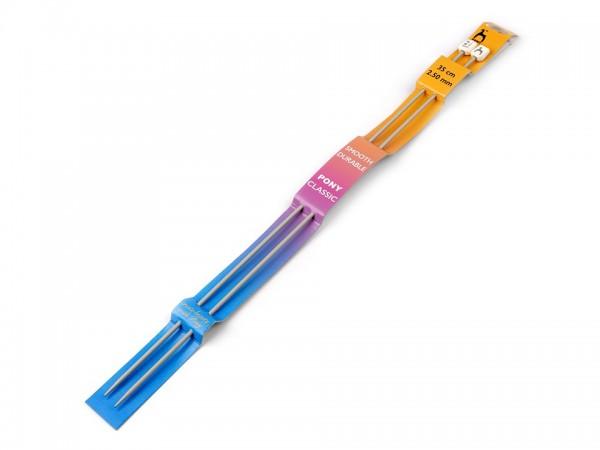 Stricknadeln-2 Stück-35 cm Länge-2,5 mm Durchmesser