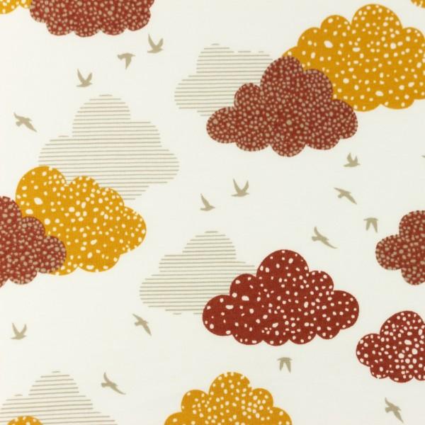 Jersey-Gepunktete Wolken-Ziegelrot