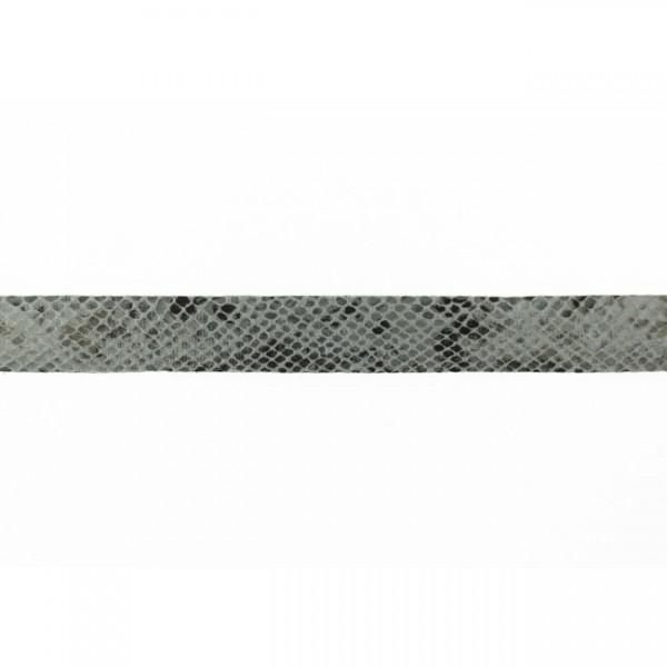 Kunstlederband-Schlangendruck-20mm-Grau