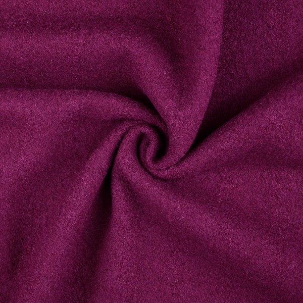Walkloden-Laura-Walkstoff-100 % Wolle-Bordeauxviolett