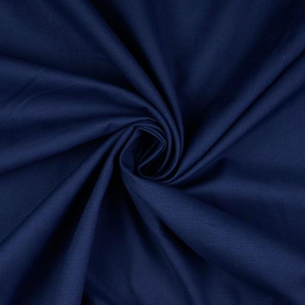 Baumwolle-Fahnentuch-Petra-Marineblau