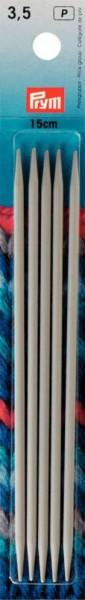 Strumpfstricknadeln, 15cm, 3,5 mm, perlgrau