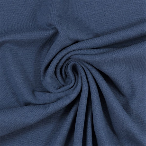 Bündchen-Heike-50er Schlauch-glatt-Rauchblau