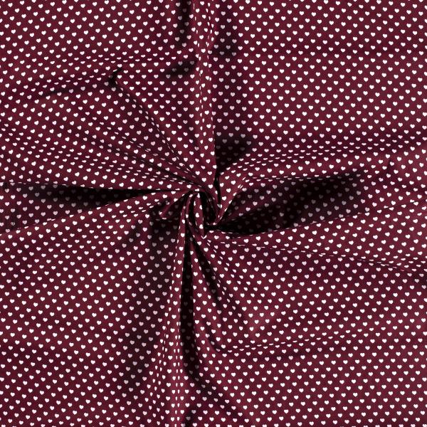 Baumwolle-Herzen-Bordeauxrot