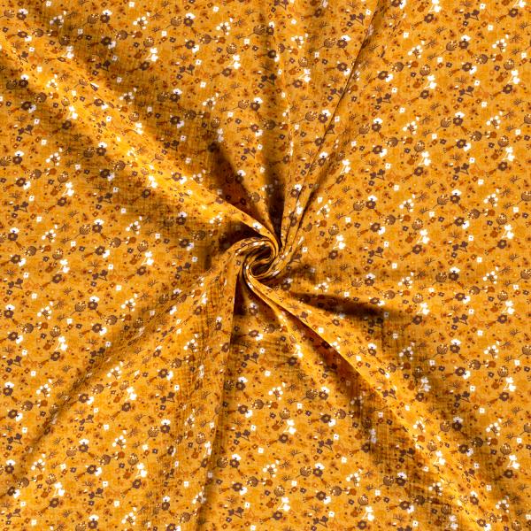 Musselin-Bärbel-Große Blumen-Ocker
