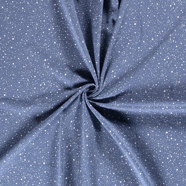 Musselin-Bärbel-Punkte-Indigo