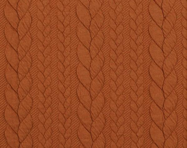 Zopfstrick-Jaquard-Terracotta