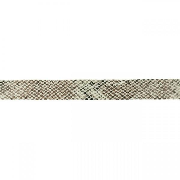 Kunstlederband-Schlangendruck-20mm-Sand
