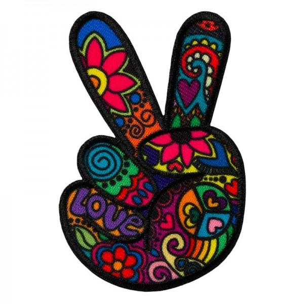 Aufbügler & Applikation-Hippie Peace