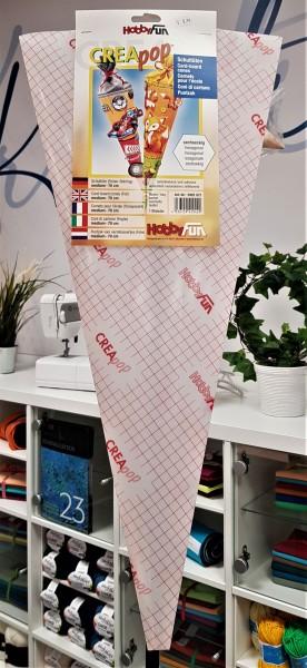 Schultüte-6 eckig-Folien Rohling-selbstklebend-70 cm