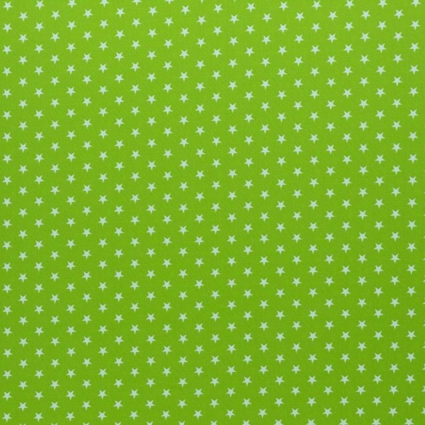 Baumwolle-Carrie-Sterne-Kiwi