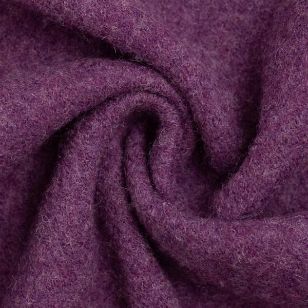 Walkloden-Naomi-Melange-Walkstoff-100 % Schurwolle-Violett