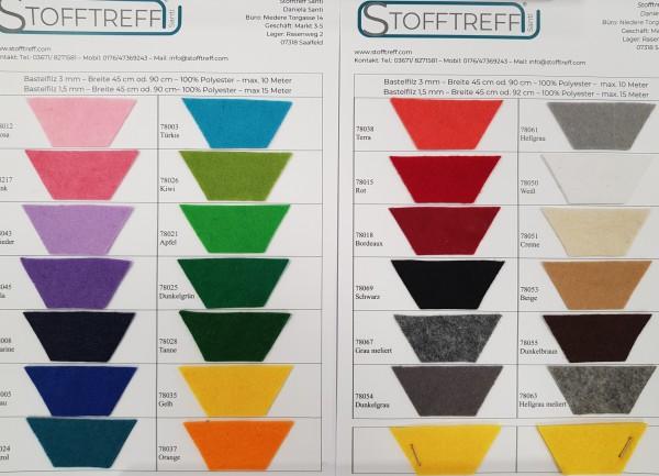 Farbkarte-Bastelfilz-1,5 mm und 3 mm