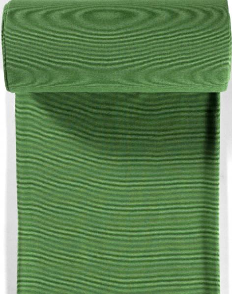 Bündchen-Steffi-35er Schlauch-Streifen-Dunkelgrün