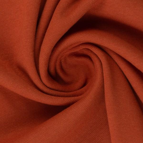 Bündchen-Heike-50er Schlauch-glatt-Terracotta