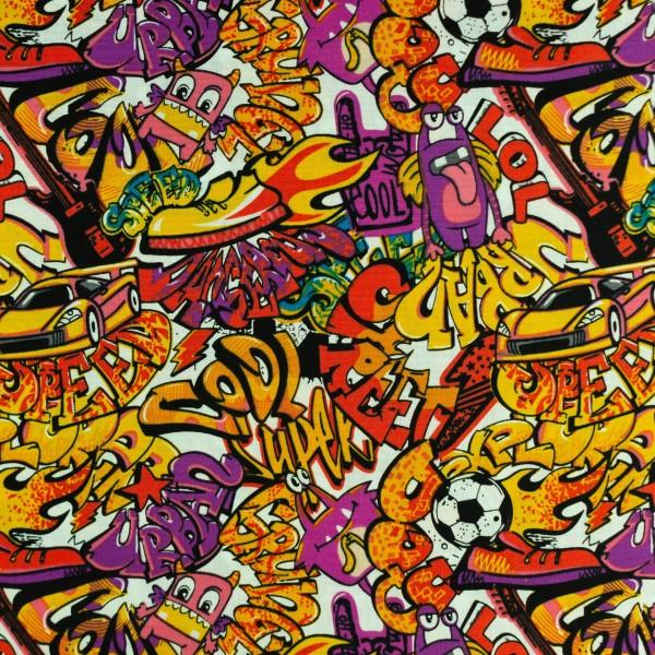 Baumwolle-Graffiti-Orange