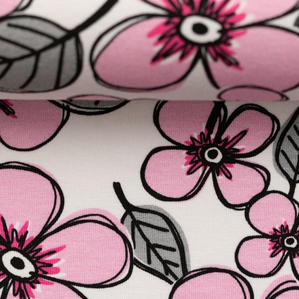 Jersey-Blume-Beige