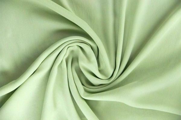 Viskose-Krepp-Georgette-Lindgrün
