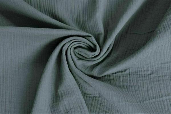 Musselin-Leonard-dreilagig-Uni-Grau