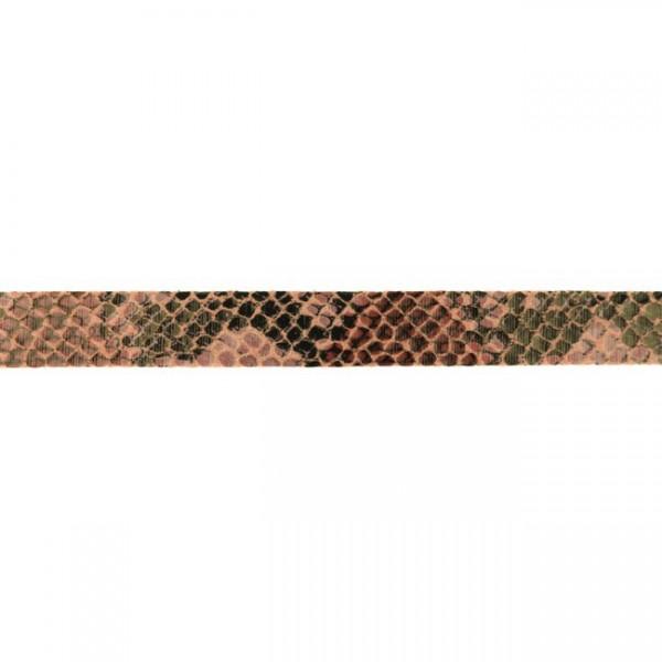 Kunstlederband-Schlangendruck-20mm-Pfirsich