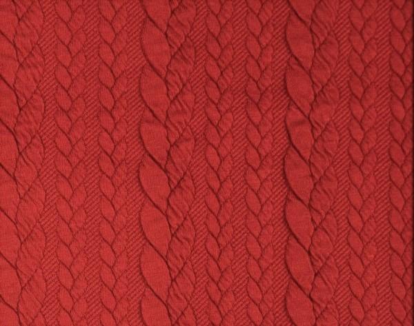 Zopfstrick-Jaquard-Rot
