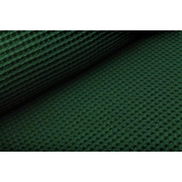 Waffelpique-Sydney-grob-Dunkelgrün