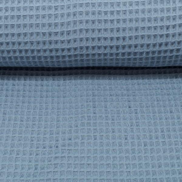 Waffelpique-Nelson-fein-Jeansblau