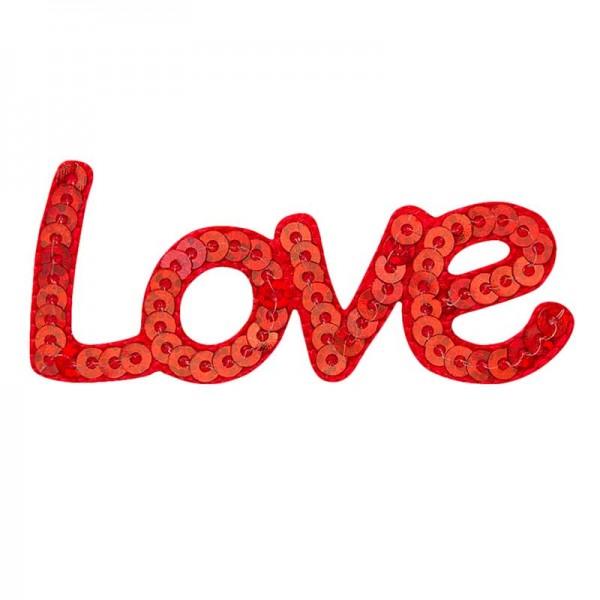 Aufbügler & Applikation-Love Pailetten