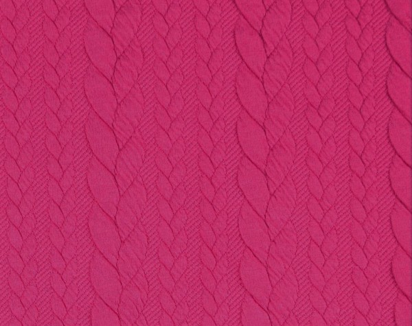 Zopfstrick-Jaquard-Pink