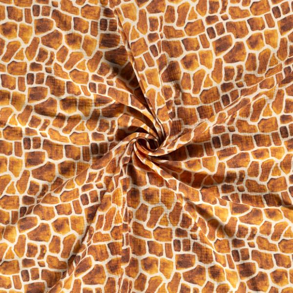 Musselin-Giraffenmotiv-Grauweiss