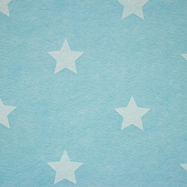 3,0 mm Filz-Stars-90 cm breit-Hellblau meliert
