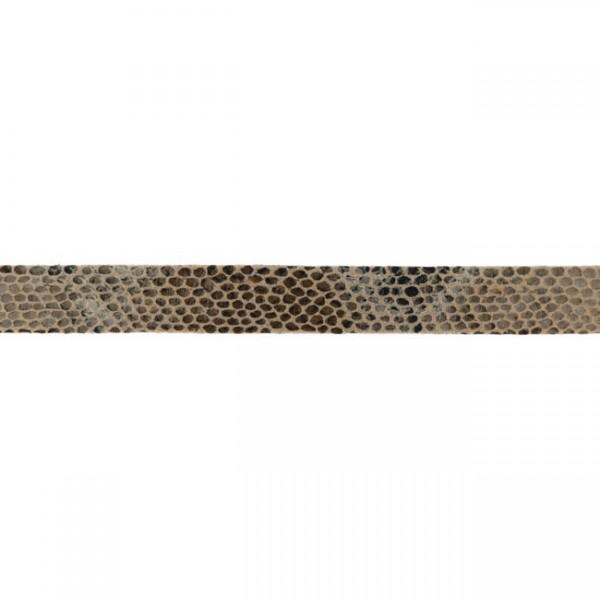 Kunstlederband-Schlangendruck-20mm-Taupe