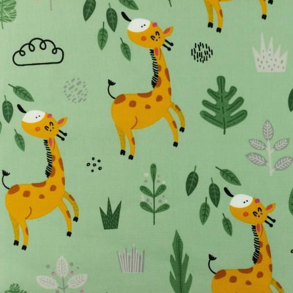 Baumwolle-Giraffe-Altgrün