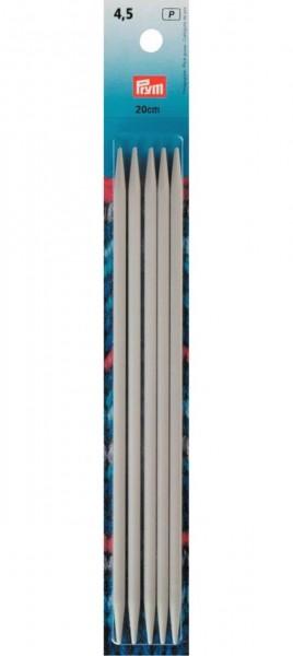 Strumpfstricknadeln, 20cm, 4,50mm, perlgrau