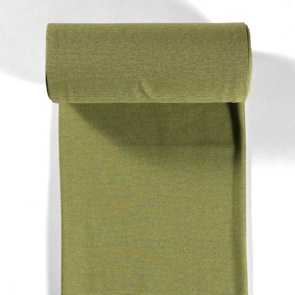 Bündchen-Steffi-35er Schlauch-Streifen-Khaki