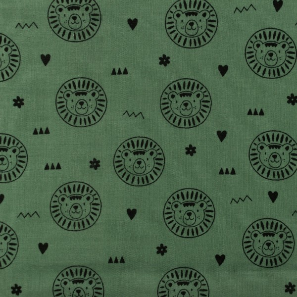 Musselin-Löwe-Altgrün