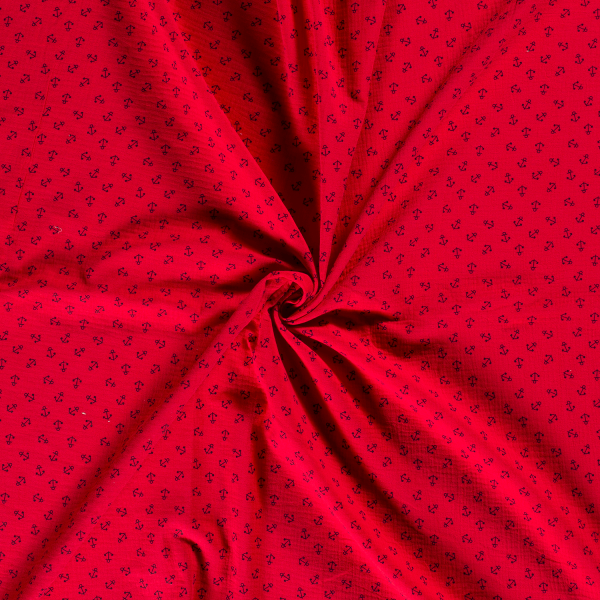 Musselin-Bärbel-Anker-Rot