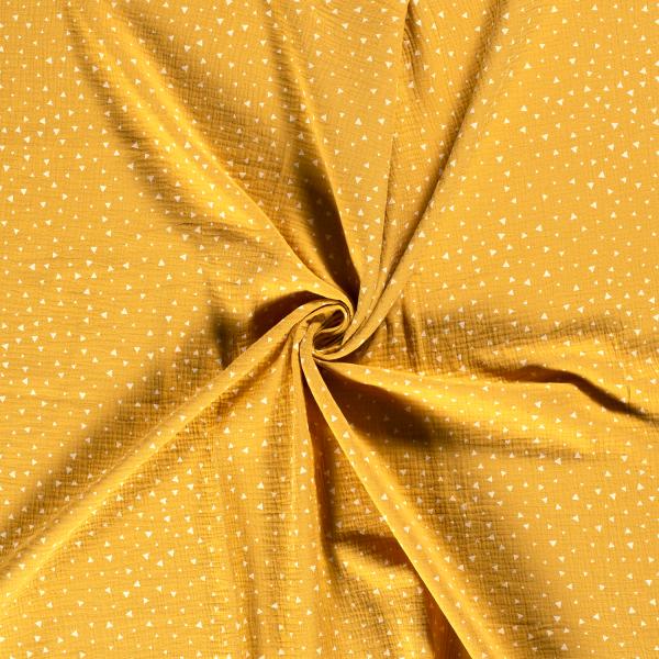 Musselin-Bärbel-Dreiecke-Ocker