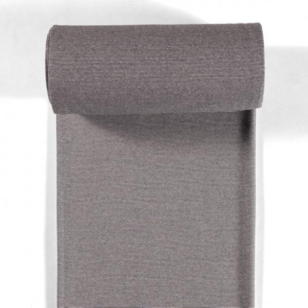 Bündchen-Steffi-35er Schlauch-Streifen-Optisches Weiß