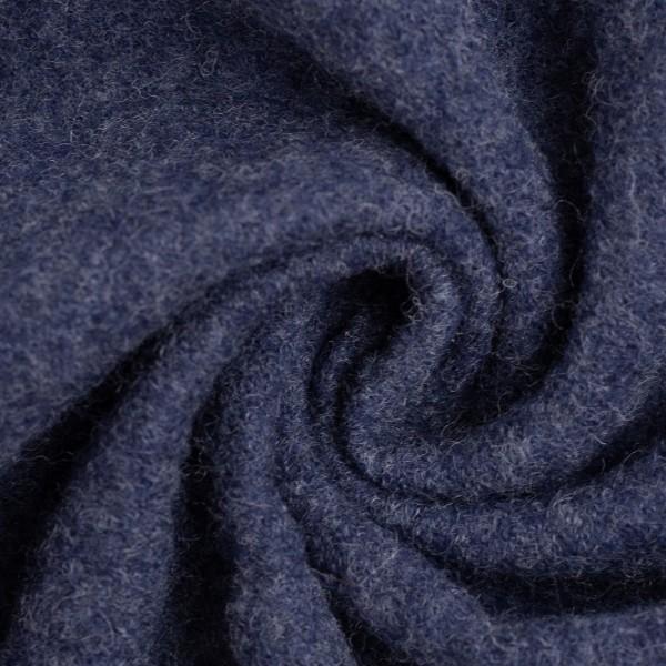 Walkloden-Naomi-Melange-Walkstoff-100 % Schurwolle-Jeansblau