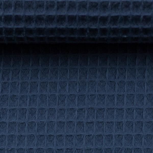 Waffelpique-Nelson-fein-Blau