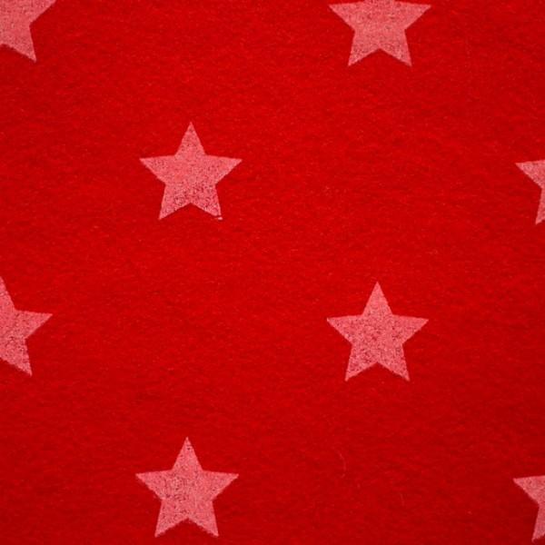 3,0 mm Filz-Stars-90 cm breit-Rot