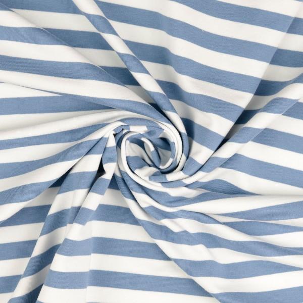 Elastic-Jersey-Streifen-Hellblau